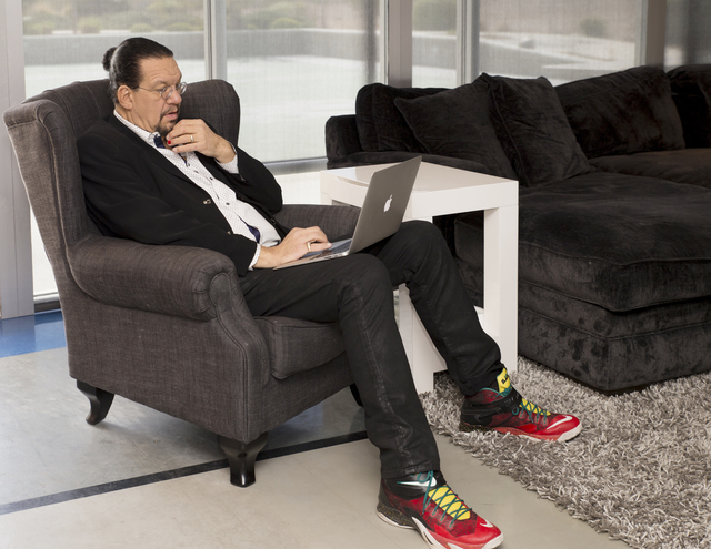 """Tonya Harvey/Real Estate Millions  Magician Penn Jillette spends time in his home at 7601 W. Wigwam Ave. known as the """"Slammer."""""""