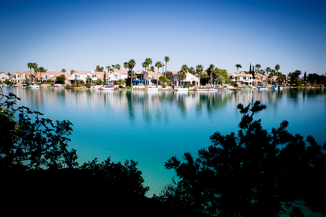 Tonya Harvey/Real Estate Millions  Luxury homes on Lake Sahara at The Lakes.