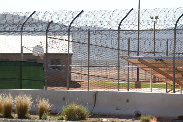 A portion of the yard area is seen at Red Rock Academy, a state juvenile correctional facility, on Tuesday, March 10, 2015. (Chase Stevens/Las Vegas Review-Journal)