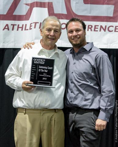 UNLV coach Jim Reitz with head diving coach Derek Starks. (Courtesy/UNLV Athletics Department)