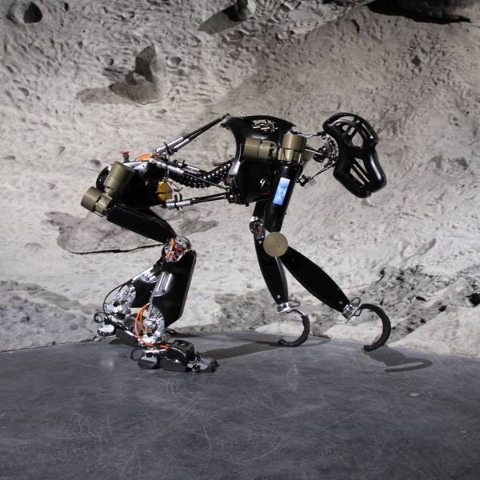 With renewed interest in moon exploration robots might be the ideal solution and a German company has landed on the chimp as its model for unmanned lunar missions. (Courtesy DFKI)