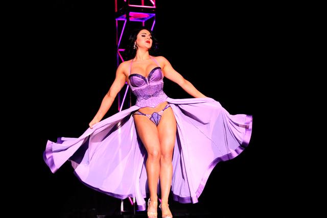 Roxi D'Lite captivates the crowd at the Viva Las Vegas Rockabilly Weekend Burlesque Showcase at the Orleans hotel-casino on Friday, April 3, 2015. (Michael Quine/Las Vegas Review-Journal) Follow M ...