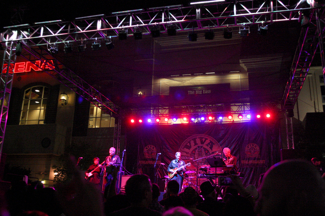 The Sonics get the crowd hopping at the Viva Las Vegas Rockabilly Weekend Car Show at the Orleans hotel-casino on Saturday, April 4, 2015. (Michael Quine/Las Vegas Review-Journal) Follow Michael Q ...