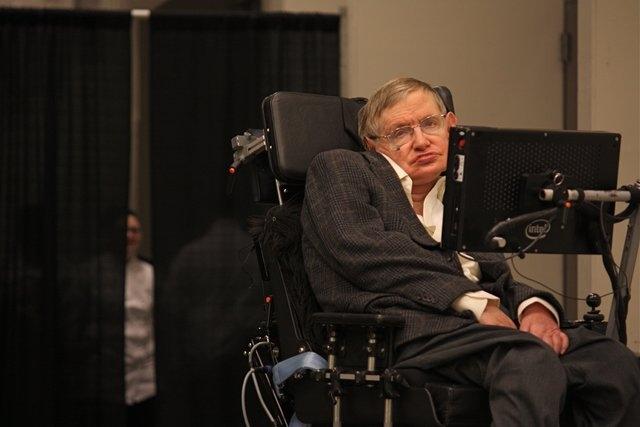 Scientist Stephen Hawking in Pasadena, California. (CNN)