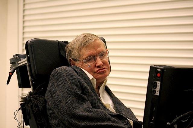 Stephen Hawking in Pasadena, California. (CNN)