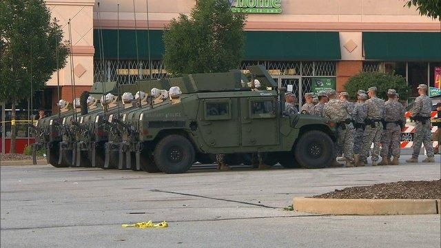 The National Guard arrives in Ferguson, Missouri, on Monday, Aug. 18, 2014. (CNN)