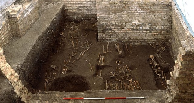 Researchers pointed to the school's substantial wall foundations and cellaring. (Craig Cessford/University of Cambridge)