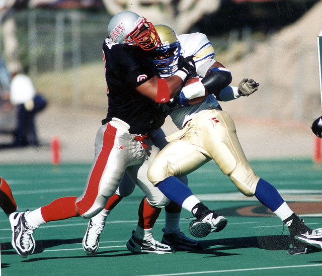 Defensive lineman Talance Sawyer during his playing days at UNLV. (Courtesy of UNLV sports information department)
