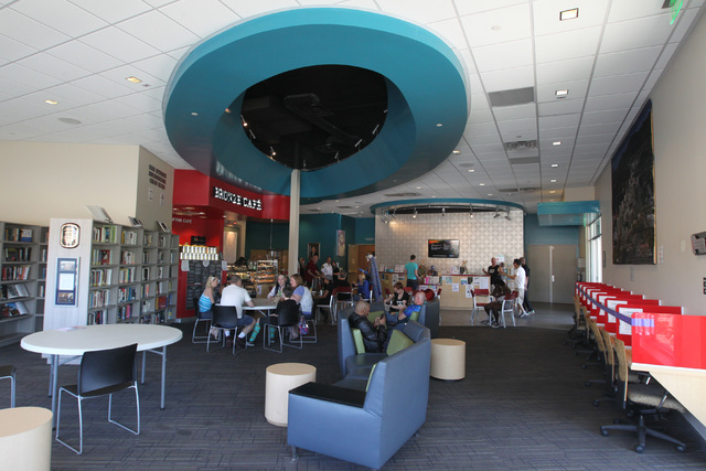The MGM Resorts International Great Room and the Bronze Cafe are seen during the second anniversary celebration at The Gay and Lesbian Community Center of Southern Nevada Saturday, April 4, 2014.  ...