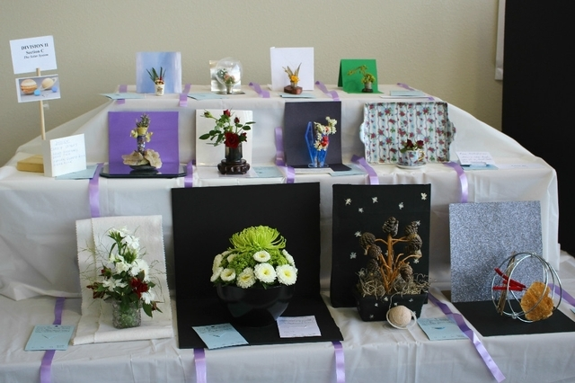 A solar system plant display is shown at the 2014 Flower Show hosted by the Sunset Garden Club. This year's event is planned from noon to 4 p.m. April 11 at the Paseo Verde Library, 280 S. Green V ...