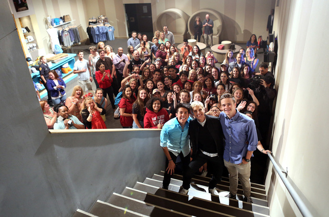 "Jacob Lescenski and Anthony Martinez appear on Thursday's episode of ""The Ellen DeGeneres Show."" (Michael Rozman/Warner Bros.)"