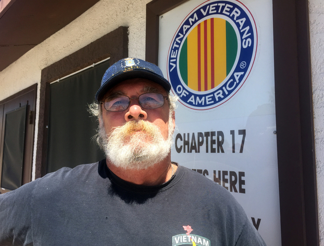 Vietnam Veterans of America Chapter 17 President George Haussmann poses outside the group's building on West Cheyenne Avenue in Las Vegas on Wednesday, April 29, 2015. (Keith Rogers/Las Vegas Revi ...