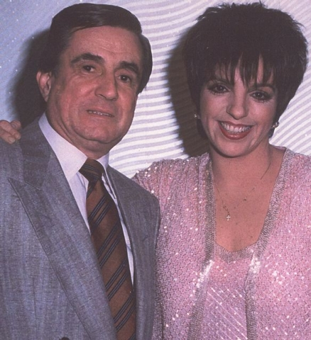 Sam Distefano is pictured with Liza Minnelli in an undated photo. (Courtesy Mike Distefano)