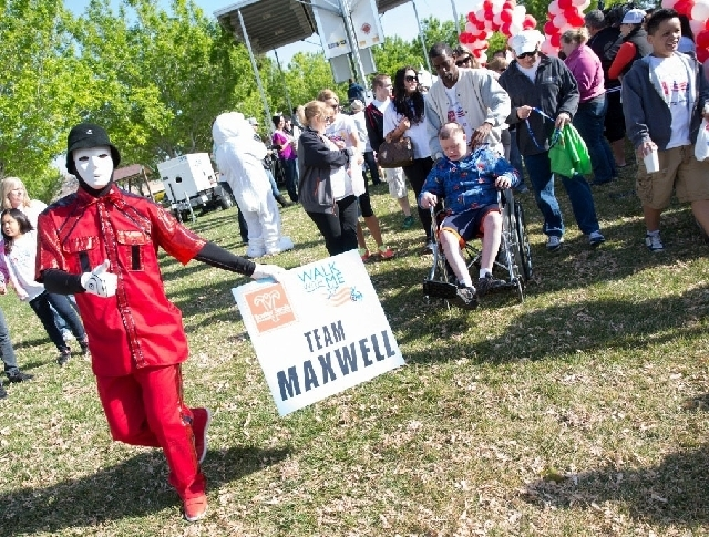 Members of the Jabbawockeez dance crew were grand marshals for Easter Seals Nevada''s fifth annual Walk With Me event, held March 23, 2013, at W. Wayne Bunker Family Park. This year's event is se ...