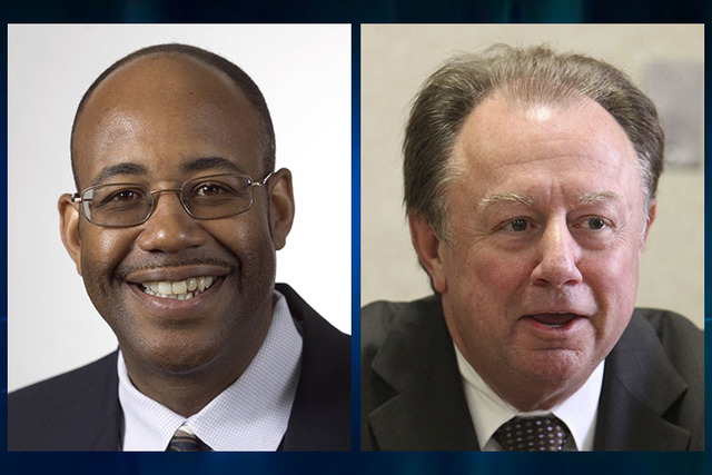 Byron Goynes, left, and Ric Truesdell (Las Vegas Review-Journal files)