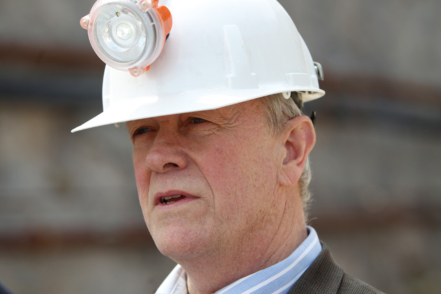 U.S. Rep. Jerry McNerney, D-Calif., speaks to members of the media after a congressional tour of the Yucca Mountain exploratory tunnel Thursday, April 9, 2015. (Sam Morris/Las Vegas Review-Journal ...