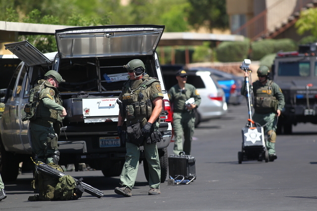 A Metro SWAT unit was called to a west valley apartment complex where officers are trying to get a person to come out of a unit following a domestic disturbance call, according to Las Vegas police ...