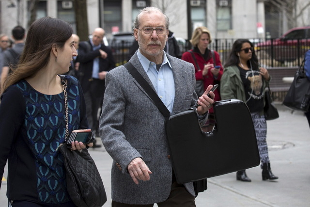 Stanley Patz, father of Etan Patz, arrives at the state Supreme Court in the Manhattan borough of New York April 13, 2015. (Reuters/Brendan McDermid)