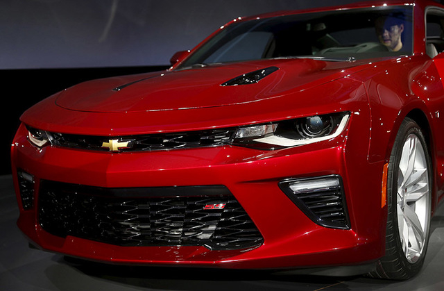 General Motors Co's all-new Chevrolet 2016 Camaro SIX is seen during its official debut at Belle Isle in Detroit, Michigan May 16, 2015. REUTERS/Rebecca Cook