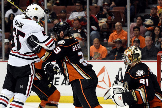 Hockey Player Headbutts Puck Into Net Goal Doesn T Count Las Vegas Review Journal