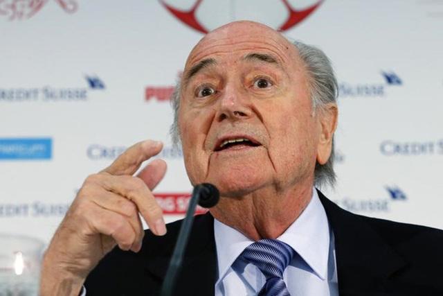 FIFA president Sepp Blatter gestures during a news conferece  in Luzern March 27, 2015. REUTERS/Arnd Wiegmann