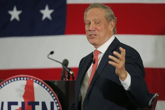 Former New York governor and probable 2016 Republican presidential candidate George Pataki speaks at the First in the Nation Republican Leadership Conference in Nashua, New Hampshire, April 17, 20 ...