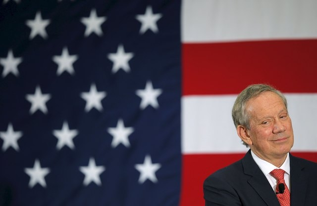 Former New York Gov. George Pataki listens to a question at the First in the Nation Republican Leadership Conference in Nashua, New Hampshire, April 17, 2015. Pataki entered the race for the 2016  ...