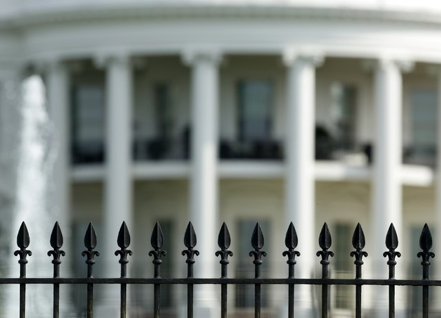The original South Lawn security fencing is seen at the White House in Washington May 28, 2015. Anti-climb spikes will be added to the fence in late July in an attempt to quell fence jumpers at th ...