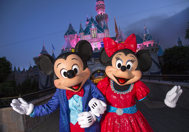 Mickey Mouse and Minnie Mouse are undergoing a Diamond Celebration inspired makeover featuring new sparkling red and blue ensembles. The Diamond Celebration at the Disneyland Resort begins Friday, ...