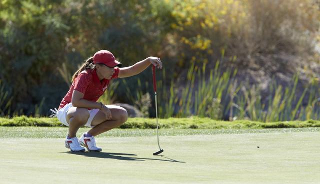 Dana Finkelstein. UNLV women's golf team during the Las Vegas Collegiate Showdown held at Boulder Creek Golf Course in Boulder City on October 28, 2014. (R. Marsh Starks / UNLV Photo Services)