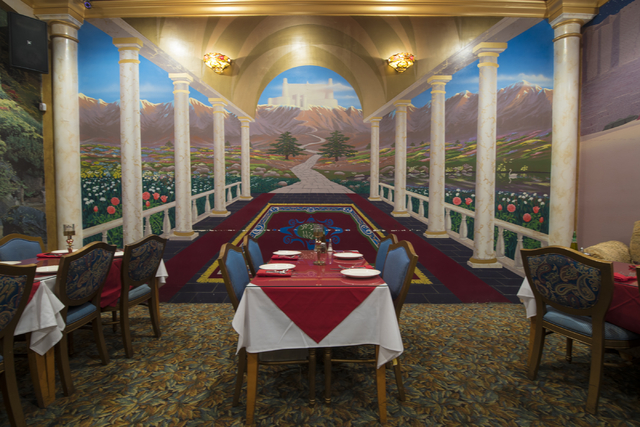 The interior decor of Ali Baba in Las Vegas on Friday, May 22, 2015. The restaurant is at 8826 S. Eastern Ave. (Joshua Dahl/Las Vegas Review-Journal)