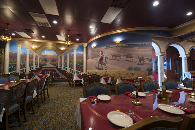 Hand painted murals fill the walls of Ali Baba in Las Vegas on Friday, May 22, 2015. The restaurant is at 8826 S. Eastern Ave. (Joshua Dahl/Las Vegas Review-Journal)