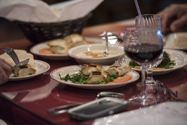 Guest enjoy Lebanese food in Ali Baba in Las Vegas on Friday, May 22, 2015. The restaurant is at 8826 S. Eastern Ave. (Joshua Dahl/Las Vegas Review-Journal)