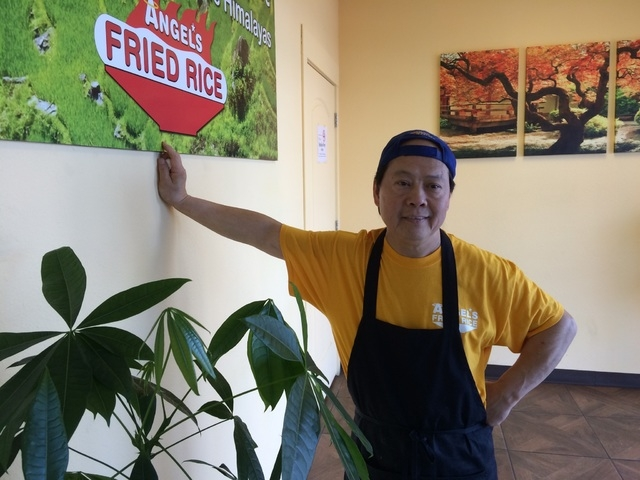 Chef Ben Tang steps away from his kitchen April 2, 2015, at Angel's Fried Rice, 3655 S. Durango Drive. The one-time jewelry businessman switched to being a chef after an investment went sour. (Jan ...