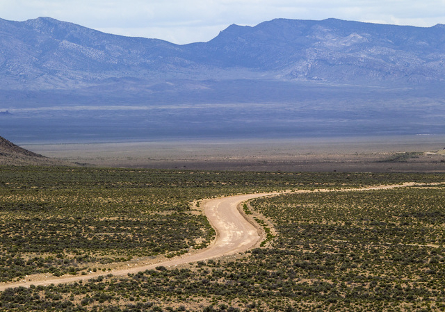 A road is seen Wednesday, May 20, 2015, in Coal Valley, a three-hour drive north of Las Vegas. Over 800,000 acres in central Nevada is proposed as the Basin and Range National Monument. (Jeff Sche ...