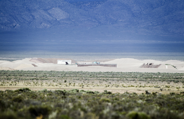 """Artist Michael Heizer's massive """"City"""" landscape sculpture located in Garden Valley, a three-hour drive from Las Vegas, is seen Wednesday, May 20, 2015. (Jeff Scheid/Las Vegas Review-Journal) Foll ..."""