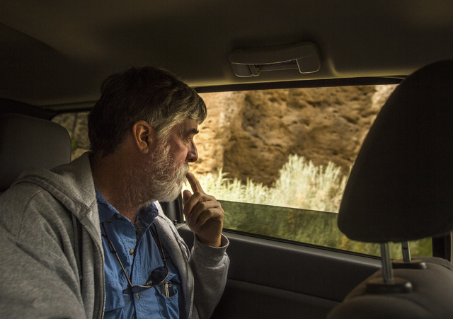 Naturalist and outdoorsman Jim Boone views rock formations  in  the White River Narrows area, about 130 miles north of Las Vegas on Wednesday, May 20, 2015. Over 800,000 acres in central Nevada is ...
