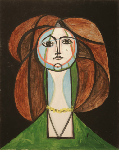 """Picasso's """"Femme au Collier Jaune"""" (Woman with a Yellow Necklace) will be on display at Bellagio's Gallery of Fine Art, starting July 3, as part of a new exhibit focusing on the artist's view of t ..."""