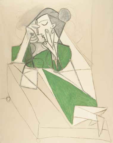 """Picasso's """"Femme Etendue Lisant"""" (Reclining Woman Reading) will be on display at Bellagio's Gallery of Fine Art, starting July 3, as part of a new exhibit focusing on the artist's view of the huma ..."""
