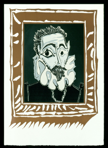"""Picasso's linocut """"Portrait d'Homme a la Fraise"""" (El Greco's Portrait of a Man with a Ruff) will be on display at Bellagio's Gallery of Fine Art, starting July 3, as part of a new exhibit focusi ..."""