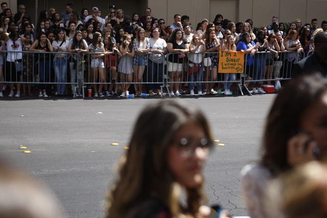 Fans lineup outside of the MGM Grand Garden Arena for the Billboard Music Awards celebrity arrivals in Las Vegas Sunday, May 17, 2015. (Erik Verduzco/Las Vegas Review-Journal) Follow Erik Verduzco ...