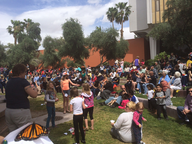 Community members who have experienced the loss of loved ones celebrated their memories during the 12th annual John Anderson Celebration of Life Live Butterfly Release, hosted by Nathan Adelson Ho ...