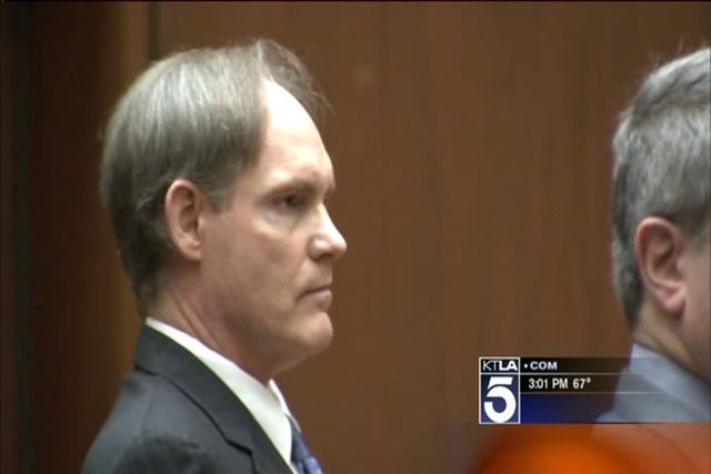 Cameron Brown, 53, who prosecutors say hurled his 4-year-old daughter off a 120-foot cliff nearly 15 years ago was convicted on Wednesday of murder, following a third trial. (KTLA/NDN)