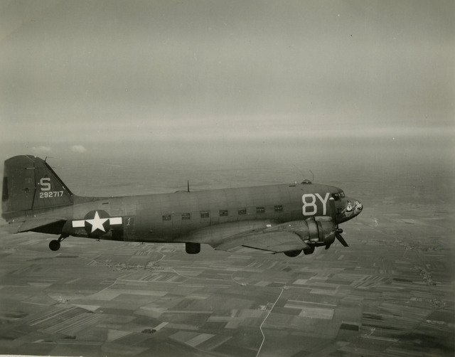 """The C-47 transport aircraft nicknamed the """"Stoy Hora"""" (civilian designation DC-3) is shown in this undated courtesy photo circa 1940s -- World War II. The Stoy Hora (tail no. 292717) was the trans ..."""
