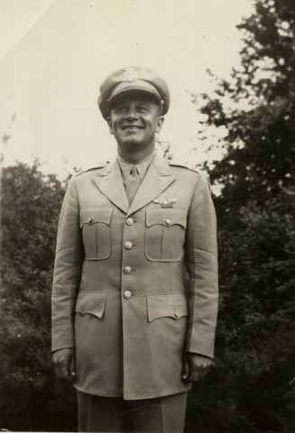 U.S. Army Air Corps Maj. Howard Cannon, pose in this undated courtesy photo circa 1940, during World War II. Cannon went on to become Clark County District Attorney and U.S. Senator to Nevada as w ...