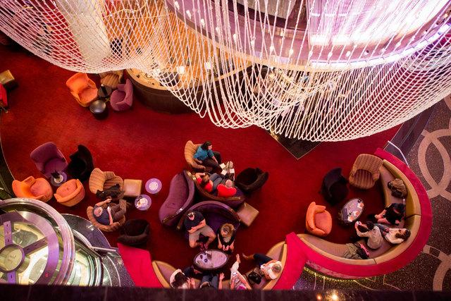The Chandelier Bar at Cosmopolitan Las Vegas. (Jeff Scheid/Las Vegas Review-Journal file)