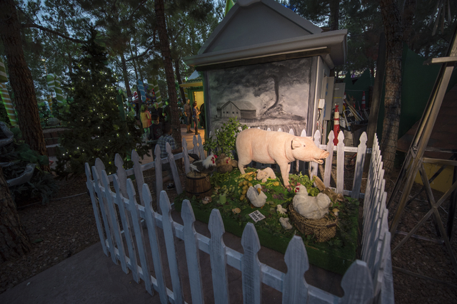 Wizard of Oz themed decor fills the village during Opportunity Village's 60th birthday celebration at Opportunity Village in Las Vegas on Friday, May 15, 2015. (Joshua Dahl/Las Vegas Review-Journal)