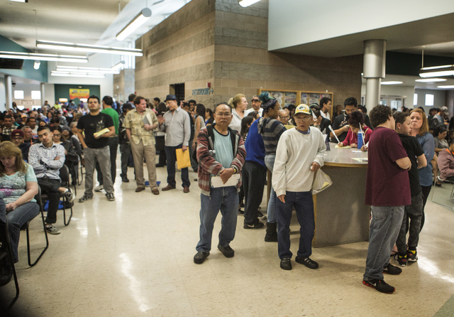 People wait to be served at the Department of Motor Vehicles office at 8250 W. Flamingo Road on Wednesday, March 12, 2015. (Jeff Scheid/Las Vegas Review-Journal)