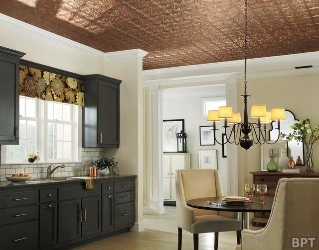 Brandpoint Decorative metal ceiling panels recreate the look of antique tin ceiling tiles. Armstrong's Metallaire ceilings are real metal ceiling tiles that come in a wide range of finishes and wo ...