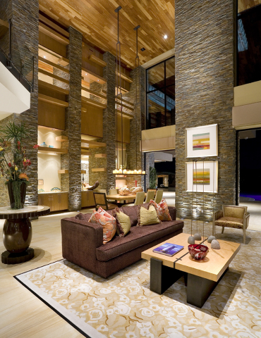 The living room of a home at The Ridges. (Courtesy)